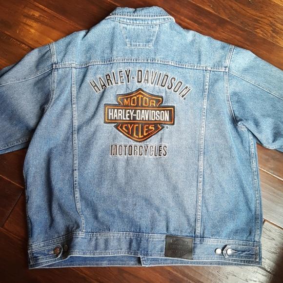 a45b2da23be1 Mens Harley Davidson Bar and Shield Denim Jacket